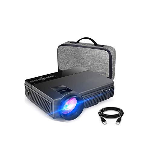 HDDFG Mini proyector de Ocio C3MQ Compatible con proyector portátil de 1920 * 1080P 170 `` para el hogar con lámpara LED de 40000 Horas Life TV Stick (Color : Black)