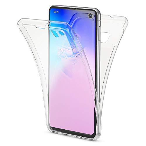 NALIA 360 Grad Hülle kompatibel mit Samsung Galaxy S10e, Full Cover vorne hinten R&um Doppel-Schutz Handyhülle Dünn Ganzkörper Hülle Silikon Etui, Durchsichtig Bildschirmschutz Rückseite - Transparent