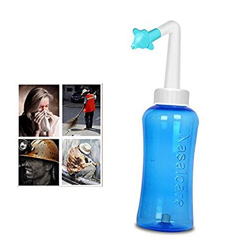 AIUIN Nasendusche Nasenspülsalz Nasenspülung Nasenreinigung Nase für Kinder und Erwachsenen bei Erkältung und Pollenallergie (500ml, Style 1)