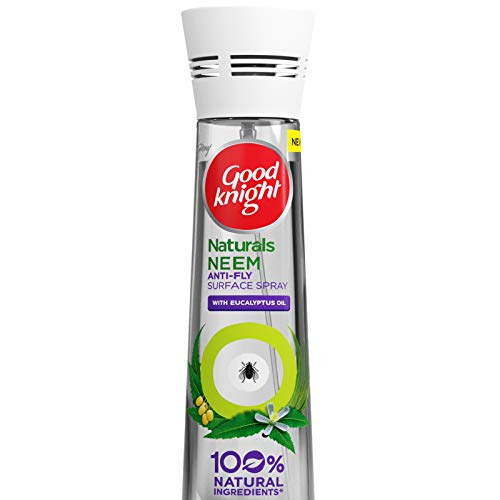 Good Knight Naturals – Neem Anti Fly Surface Spray with 100% Natural Active Ingredients (Safe for Kids and Adults), 150ml