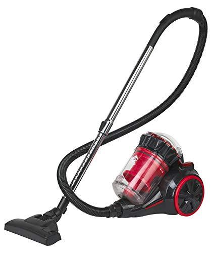 Family Care Aspirador ciclónico sin bolsa, depósito 3L, 700W, filtro HEPA hipoalergénico, Eficiencia energética A+++, color rojo-negro