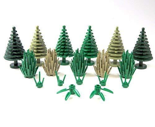 Custom Grünzeug Posten 18 TLG. Baum Busch Blumen für Lego® Landschaftsbau City