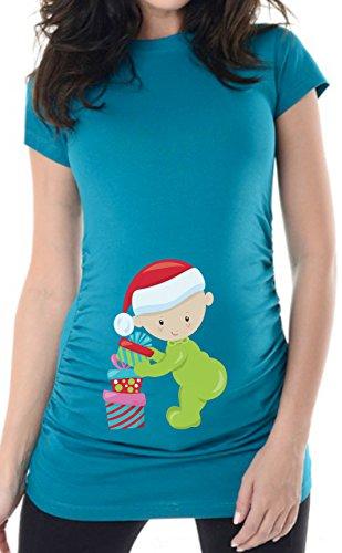 bellytime Weihnachten Baby 4 Gr. 40 (L) türkis, Umstandsmode individu