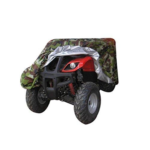 AiJump Copertura 190T Poliestere Rivestito per Quad ATV Motociclo Scooter Impermeabile Antipolveri Copri Anti-UV con Sacca Camuffamento M:145x85x98cm
