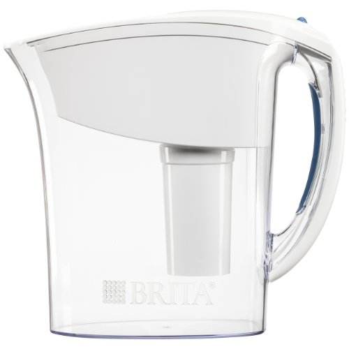 Brita Small 6 Cup Water Filter Pitcher with 1 Standard Filter, BPA Free – Space Saver, White