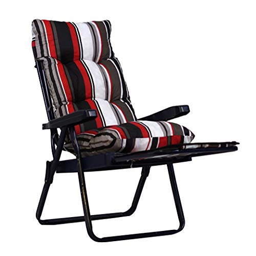 TECNOWEB Coussin super rembourré pour chaise longue avec chariot, idéal pour extérieur et intérieur, adapté aux sardines extractibles, 100 % fabriqué en Italie, couleur : rayé rouge, blanc, noir.