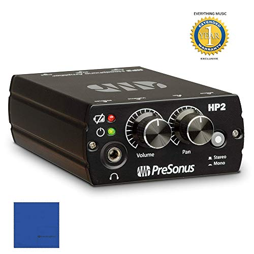 Presonus HP2 Battery-Powered Stereo Headphone Amplifier with 1 Year Free Extended Warranty