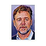 HAOCHIDE Russell Ira Crowe Porträt-Poster, dekoratives