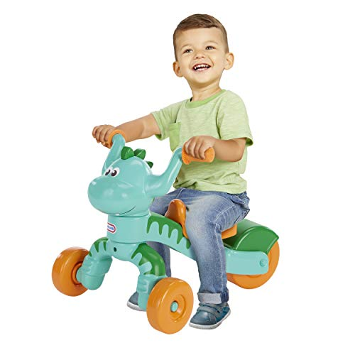 Little Tikes Go and Grow Dino Indoor Outdoor Ride On Toy Trike for Preschool Kids - Toddlers Dinosaur Inspired Toys and Toddler Trike to Develop Motor Skills for Boys Girls Age 1-3 Years