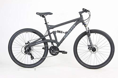 2021 Gravity FSX 27.5 LTD Dual Suspension 21 Speed Mountain Bike (Matt Ti Gray, 21 inch = Large/XLrg fits 6'2' to 6'5')