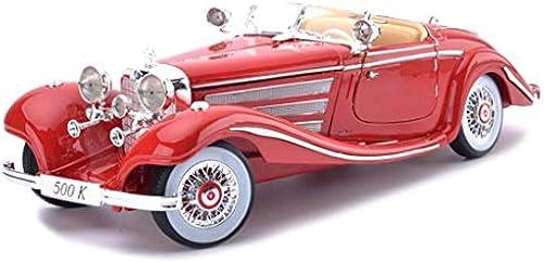 HTDZDX 1 18 Mercedes Benz 500 Karat Modellauto Simulation Druckguss Legierung Spielzeugauto Modell Dekoration Spielzeug Kinder Geschenk (Farbe   rot)