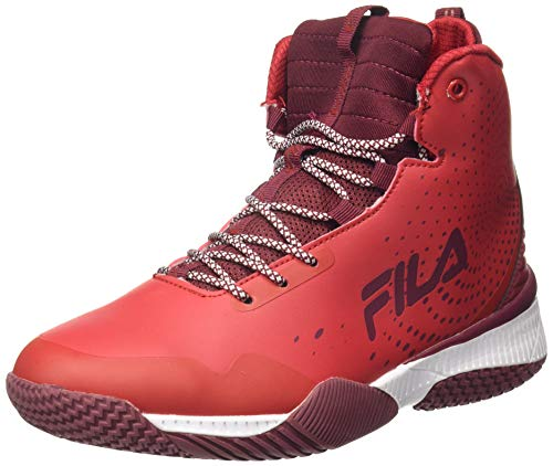 Fila Men's Tri-V High CHN Bkg Rd Basketball Shoes-9 UK (43 EU) (10 US) (11007588)