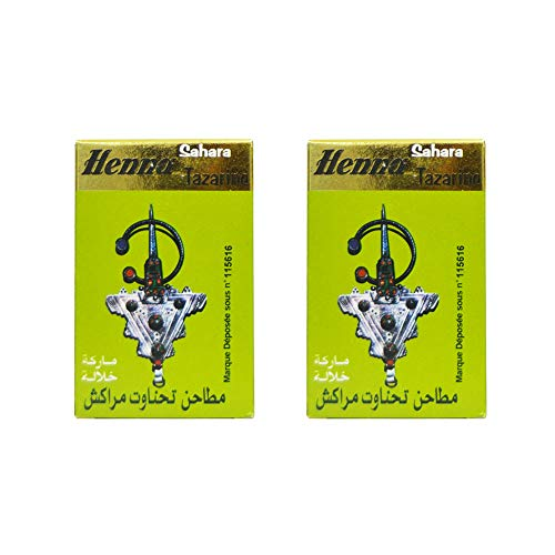 2 confezioni di Henna Lawsonia inermis, ognuna ha 100 g