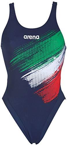 Arena W Italy Fin Swim Tech One Piece, Costume Donna, Blu (Navy), 40