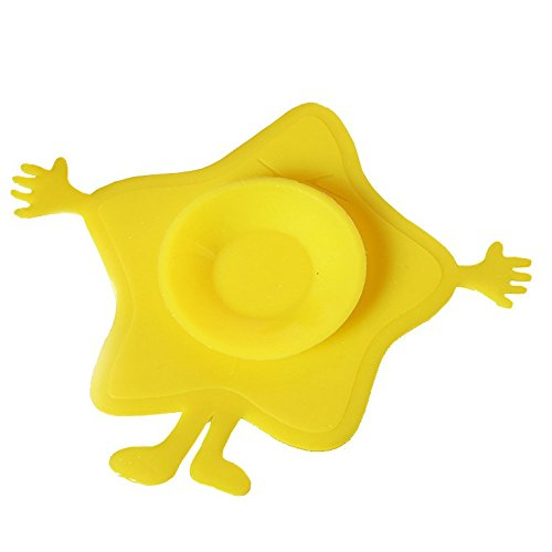Beby3PS - Ventosa de doble cara con ventosa de silicona antideslizante amarillo amarillo
