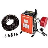 Anbull elektrische Rohrreinigungsmaschine, 750W / 230V Rohrreiniger, IP44 wasserdicht,geeignet für Ø20-150 mm Rohrleitungen, Gehäuse aus Aluminiumlegierung,Abflussreiniger mit Ø10mm 16mm Spiralen