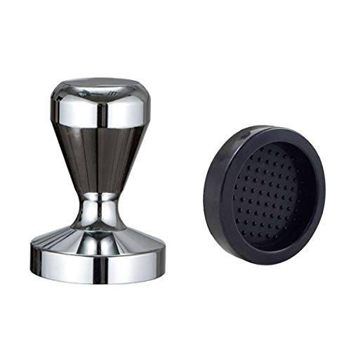 Coffee Tamper, Espresso Coffee Press 49mm Tamper Coffee with Silicone Tamper Mat