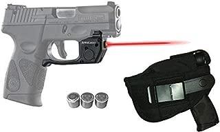 Laser Kit for Taurus PT111 / PT140 Millennium G2 / G2S / G2C w/LASERPRO Holster, Touch-Activated ArmaLaser TR23 Red Laser & 2 Extra Batteries