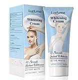 Whitening Cream Bleaching Cream, Skin Lightening Cream, Effective Safe to use, effective whitening cream for knees, elbows, armpits and sensitive parts can brighten, nourish and repair skin (White)