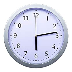 Truu Design, 9.5 x 9.5 inches, Silver Round Wall Clock with Hidden Safe