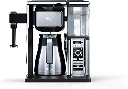 Ninja Special Bar Coffee Maker CF097 | Auto-iQ Programmable | Stainless Thermal Carafe | Perfect 6-Brew Sizes & 4 Styles | Pod Free Single Serve | Hot&Cold Drinks | One-Touch Intelligence (Renewed)