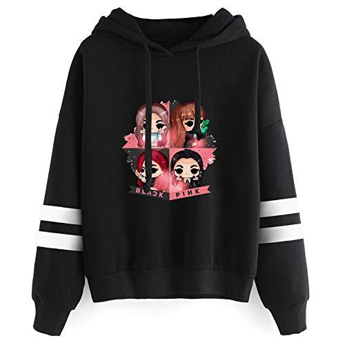 Unisex Blackpink Sudaderas Versión Coreana más vendida, cómodo suéter de Manga...