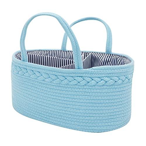 Cesta De Almacenamiento Para Pañales Para Bebés Bolsa De Almacenamiento De Pañales Para Bebés Con Compartimentos Tejido De Cáñamo Y Algodón Carrito De Bebé Bolsa De Tela Con Pañales Para Pañales