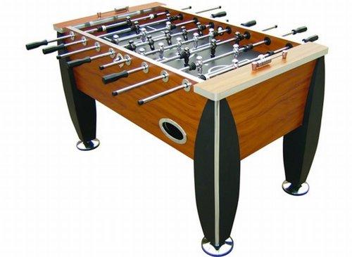 Carromco Unisex Jugend Royal Xt Kickertisch, Tischspiele, Tischfussball, braun/schwarz/Silber, 144 X 80 X 88 cm