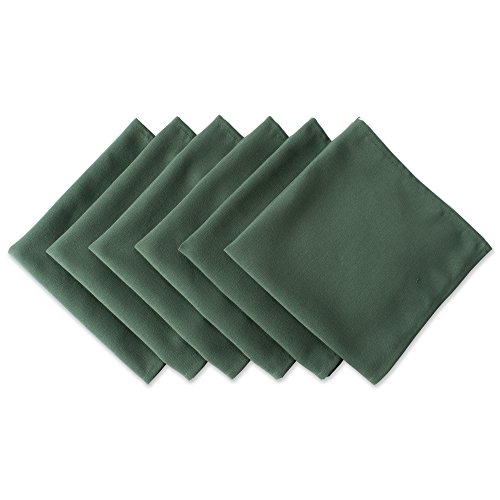 DII Wrinkle Resistant 20x20' Polyester Napkin, Pack of 6, Dark Green - Perfect for Brunch, Catering Events, Thanksgiving, Dinner Parties, Showers, Weddings and Everyday Use