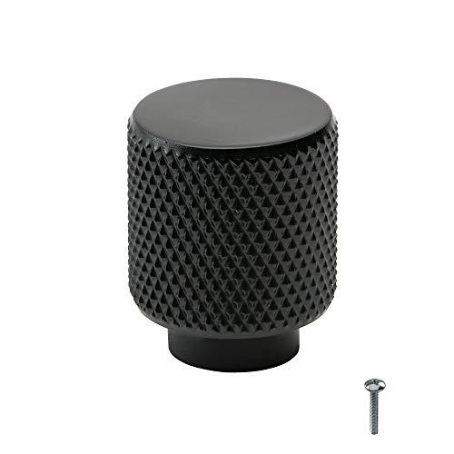 Beslag Design - 1 bit skåpknapp rund Helix matt svart modifierad – Ø 20 mm, T: 25 mm – kontorsknapp dörrknopp skåpknopp köksknopp klassisk modern skandinavisk design