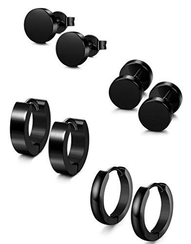 stud earrings men stainless steel - 2