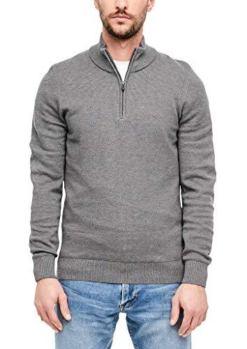 s.Oliver Herren 28.911.61.6774 Pullover, Grey, X-Large (Herstellergröße: XL)
