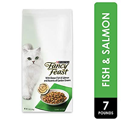 Purina Fancy Feast Dry Cat Food, With Ocean Fish & Salmon - 7 lb. Bag