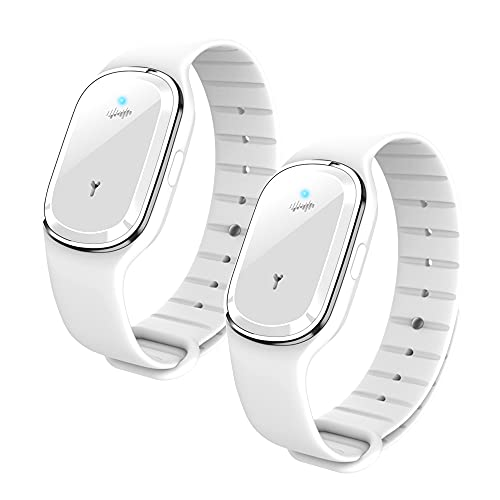 CWGYIPL Ultrasonic Mosquito Repellent Bracelet, Electronic Anti Mosquito Repeller Wristband Watch with USB Charging Cable Suitable for Indoors and Outdoors Adults Children Non-Toxic Bracelet