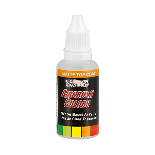 US Art Supply Clear Matte Topcoat Acrylic Airbrush Paint, 1 oz.