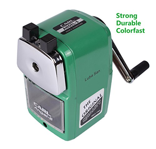 CARL Angel 5 Manual Pencil Sharpener Heavy Duty but Quiet for Office and Home Desks School Classroom,Green Photo #5