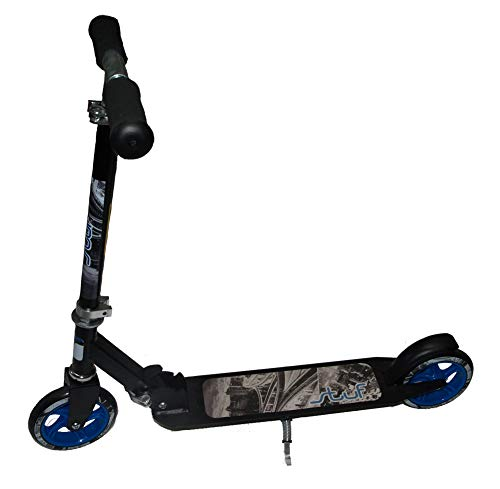 Stuf Team Scooter, schwarz/Design, Größe:Rollen 145mm