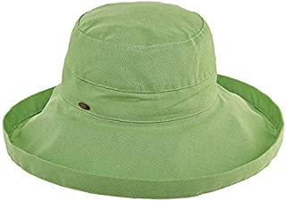 Scala Women's Cotton Hat with Inner Drawstring and Upf 50+ Rating