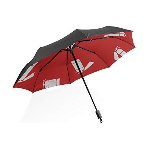 Frauen Regen Regenschirm Nette Kreative Cartoon Feuerlöscher Tragbare Kompakte Taschenschirm Anti Uv Schutz Winddicht Outdoor Reise Frauen Outdoor Regen Regenschirm