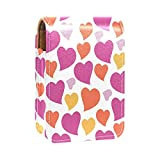 Divertente custodia per rossetto con motivo a cuore rosato, colore giallo arancione e rosso, per contenere fino a 3 rossetti