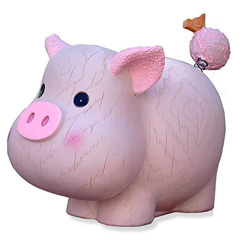 Hars Piggy Bank Verjaardagscadeau Cash Box Kleine Roze Varken Zodiac Animal Coin Saving Bank Verjaardagscadeau