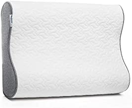 Bedsure Contour Memory Foam Pillow - Ergonomic Cervical Pillows for Neck, Neck Support for Back, Side Sleepers - Gel-Infused Bed Pillows with Washable Zippered Cover - Standard Size