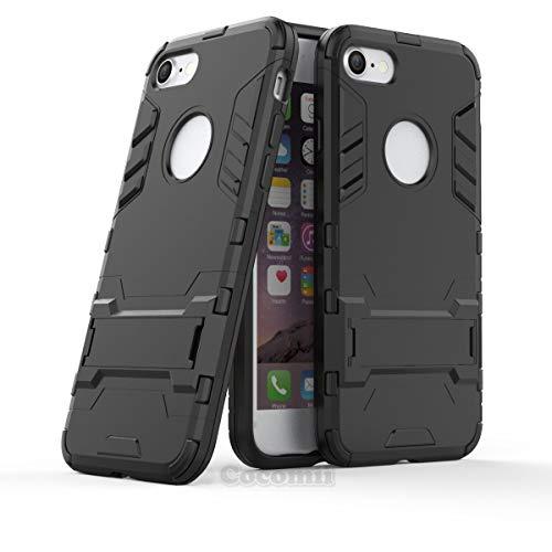 Cocomii Iron Man Armor iPhone 8/iPhone 7 Funda Nuevo [Robusto] Táctico Sujeción Soporte Antichoque Caja [Militar Defensor] Cuerpo Completo Case Carcasa for Apple iPhone 8/iPhone 7 (I.Jet Black)