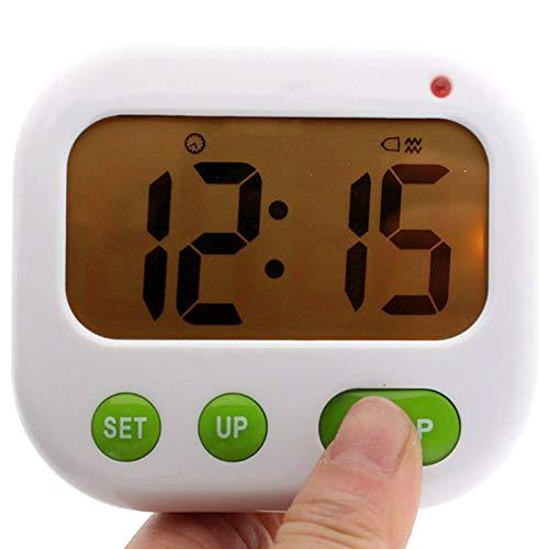 ACAMPTAR Despertador de Vibración Temporizador Digital LED Luminova Reloj de Caramelo Electrónico Reloj de Escritorio de Estudiante Gadgets de Escritorio Luz Verde + Naranja