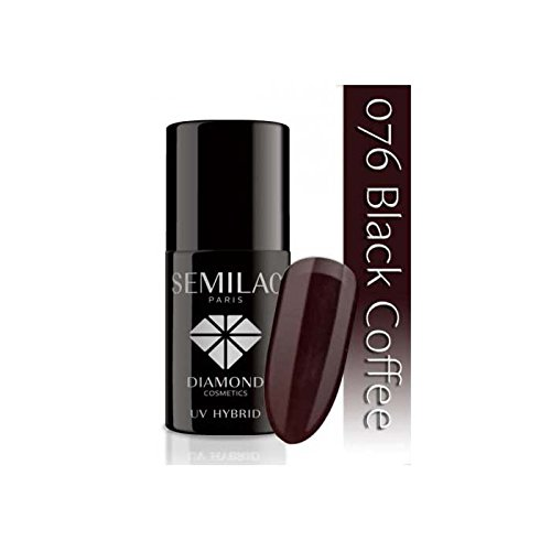 Semilac UV-Hybrid-Nagellack, Nummer 076, 7 ml, Schwarz Kaffee