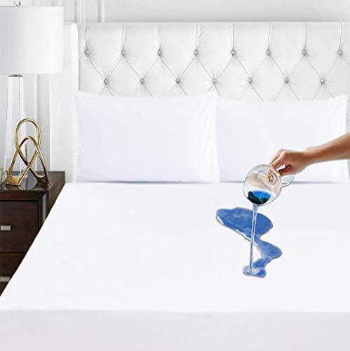 RICHAIR Protector de colchón impermeable – Protector transpirable de algodón [blanco -70 x 190 cm]