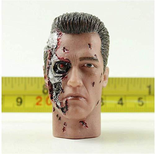 ZSMD 1/6 Arno Head Carver Terminator 2 cabezas talladas dragn tctico versin camuflaje adecuado para disfrazarse HT VERYCOOL TTL PHICEN TBLeague (B)