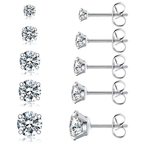 5 Pairs Stud Earrings Set, Hypoa...