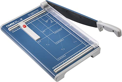 """Dahle 533 Professional Guillotine Trimmer, 13-3/8"""" Cut Length, 15 Sheet Capacity, Self-Sharpening, Manual Clamp, German Engineered Cutter"""