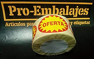 En papel blanco e impresas en negro se suministran en 1 rollo 500 Etiquetas OFERTA /… /€ de di/ámetro. de 50 mm